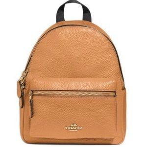 COACH light saddle tan mini charlie backpack bag